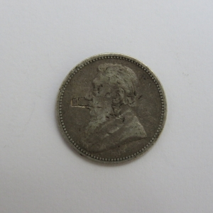 1893 ZAR Paul Kruger sixpence well used