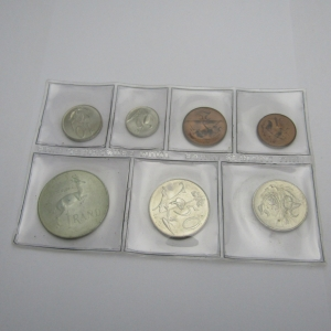 1968 South Africa Mint pack with English legend - Lot of 7 uncirculated coins