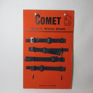 Lot of 4 Comet Genuine leather suede 10 mm ladies watch straps on card