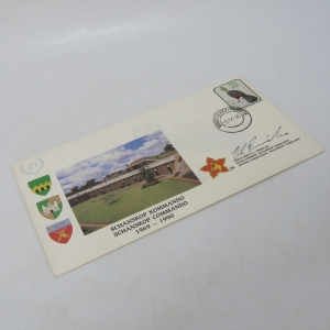 First day cover - 21 Years Schanskop Commando 1969-1990 - Sigend by Kmdt AL Prinsloo