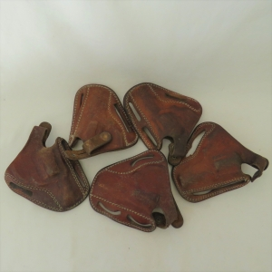 Lot of 5 leather holsters for .32 revolvers with 2 inch barrels