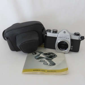 Pentax Asahi SP 500 camera body in bag - With operation manual