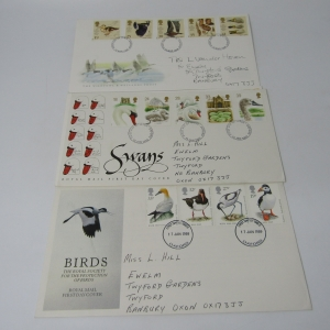 Lot of 4 Great Britain First Day Covers with Birds