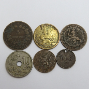 Lot of 6 coins - Each one over 100 years old