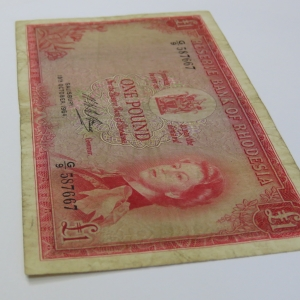 Reserve Bank of Rhodesia One Pound G9 Salisbury 19 October 1964