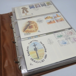 South West Africa First day cover album with various Philatelic items - Including the first lot of FDC's