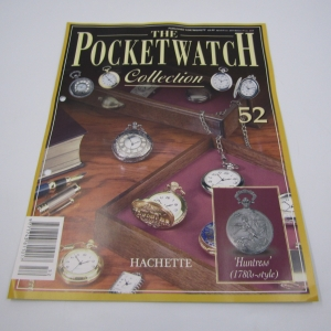1780's Style Huntress full hunter quartz pocket watch - Hachette pocket watch collection #52 - working