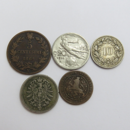 Lot of 5 old coins - Each one over 100 years old
